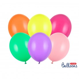 10 LATEX BALLOONS – MIX PASTEL MULTICOLOR