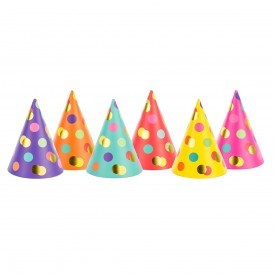 6 WITCH HATS – MULTICOLOR