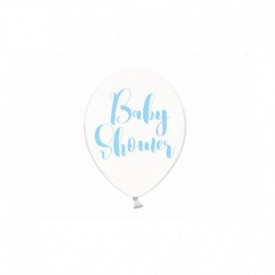"6 ""BABY SHOWER"" BALLOONS – BLUE"