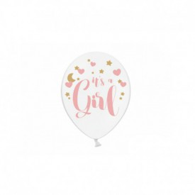 "6 ""IT'S A GIRL"" BALLOONS"