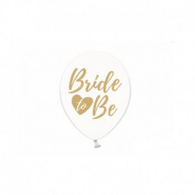 "6 "" BRIDE TO BB"" BALLOONS – GOLD"
