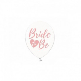 "6 ""BRIDE TO BE"" BALLOONS – PINK"