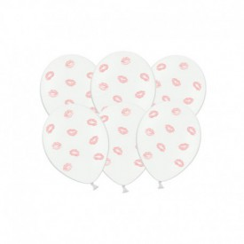 "6 ""KISSES"" BALLOONS – PINK"