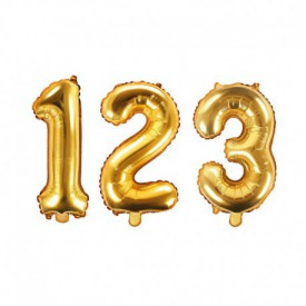 SMALL NUMBERED BIRTHDAY BALLOON – GOLD