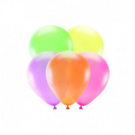 5 LATEX BALLOONS – MULTICOLOURED NEON