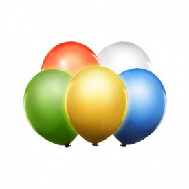 5 LATEX BALLOONS – MULTICOLOURED LED