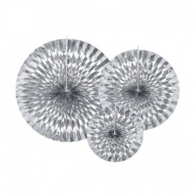 SET OF 3 ROSETTES – SILVER