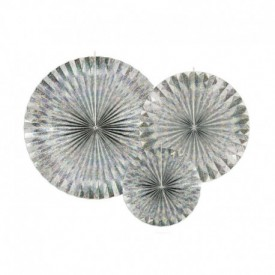SET OF 3 ROSETTES – HOLOGRAPHIC