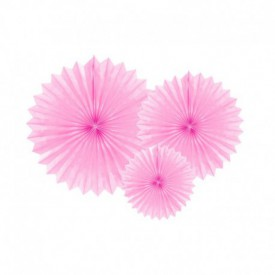 SET OF 3 ROSETTES – PINK
