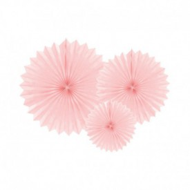 SET OF 3 ROSETTES – BRIGHT PINK