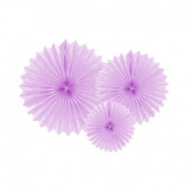 SET OF 3 ROSETTES – LILAC