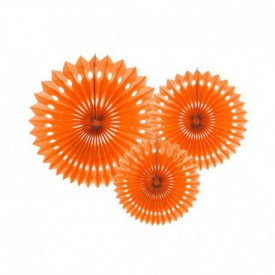 SET OF 3 ROSETTES – ORANGE