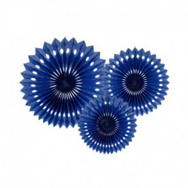 SET OF 3 ROSETTES – DARK BLUE